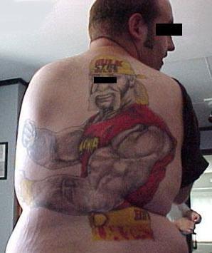 wrestling tat